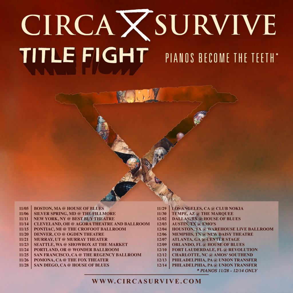 Saosin Featuring Anthony Green Club Nokia: Circa Survive To Head Out On Tour